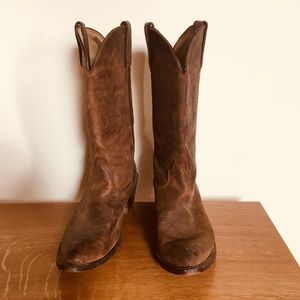 Simple Women's Leather Cowboy Boots